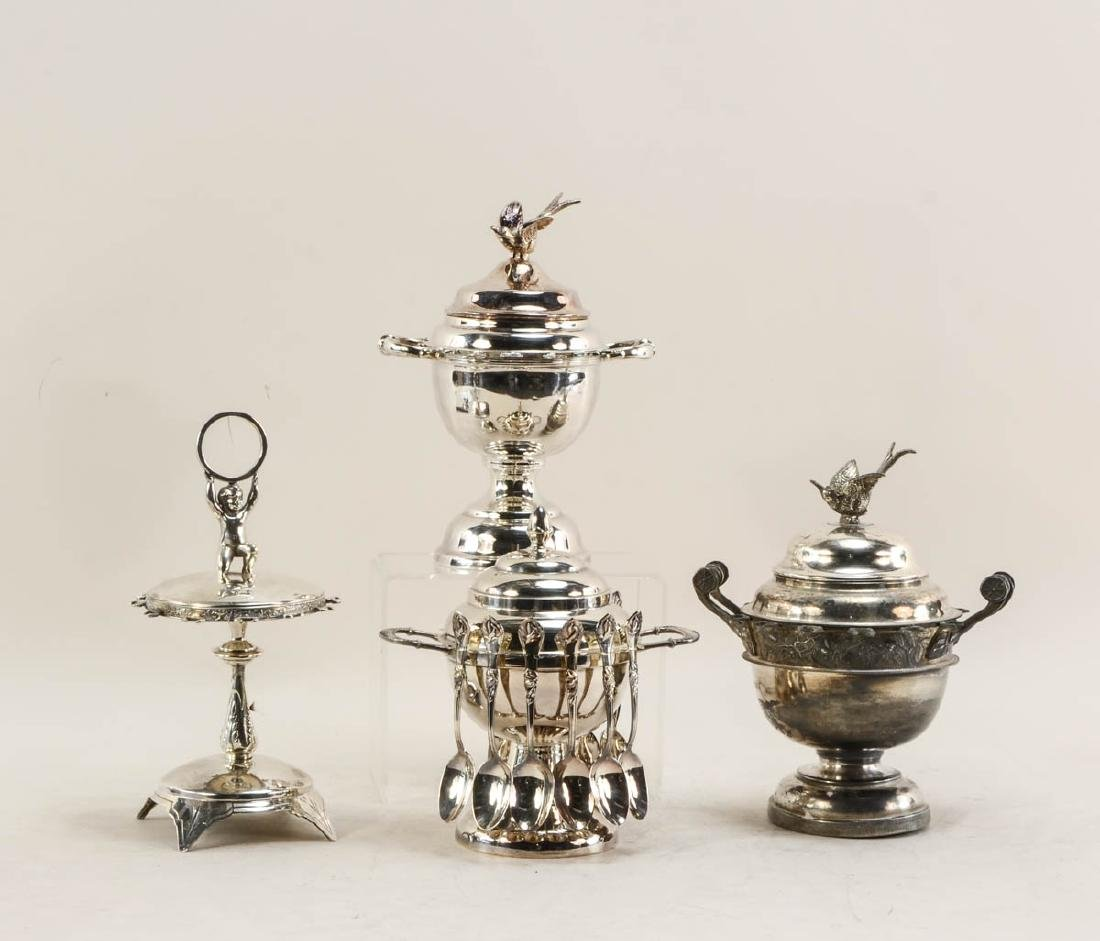 Four Silverplate Spooners