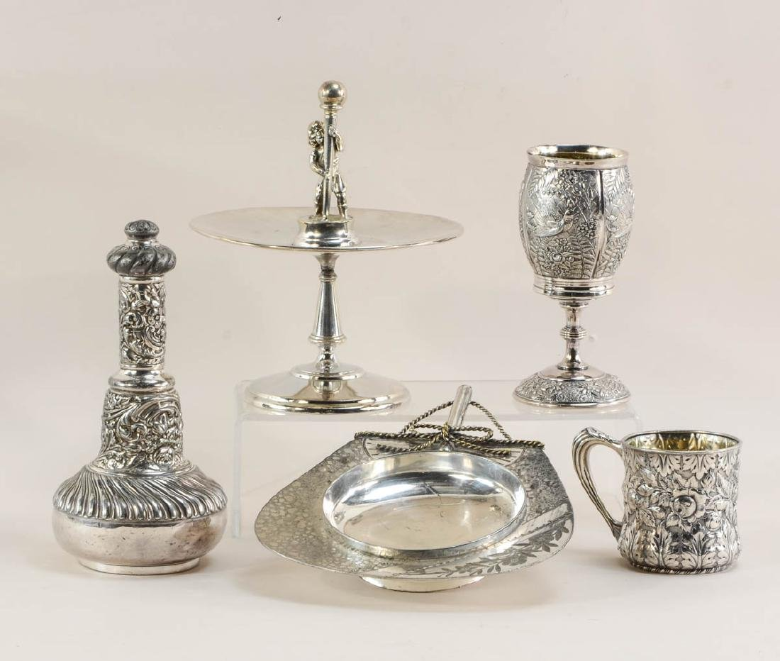Five pieces of American Silverplate