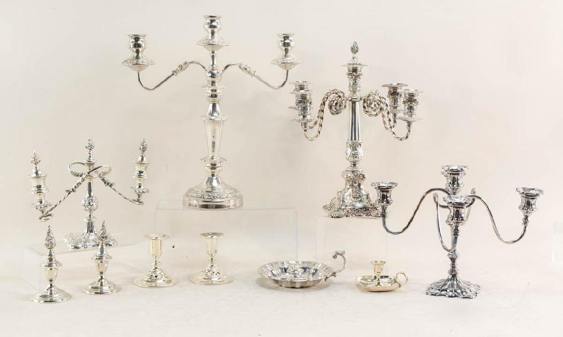 Silverplate Candelabra Group