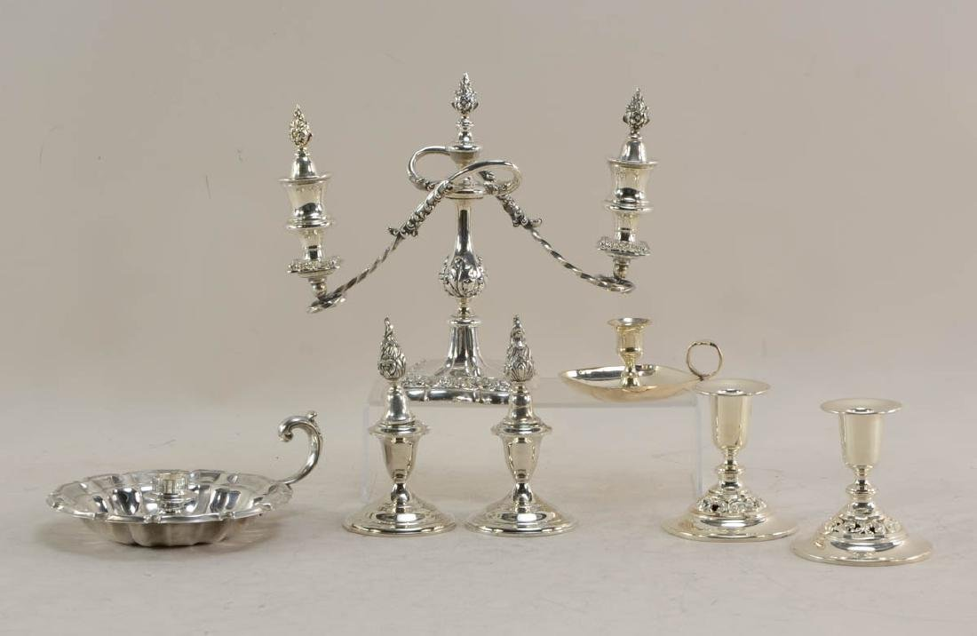Silverplate Candelabra Group - 5