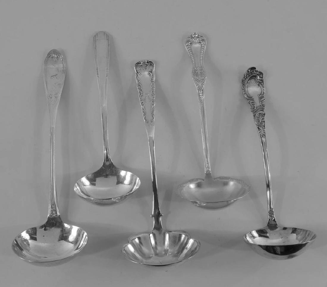 18 Silver plate Ladles and servers - 2