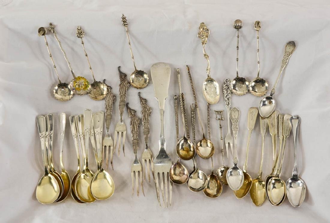 Mixed Asian, Russian, European Silver