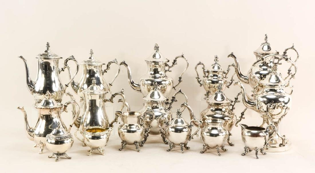 18 silver plate coffee service sets