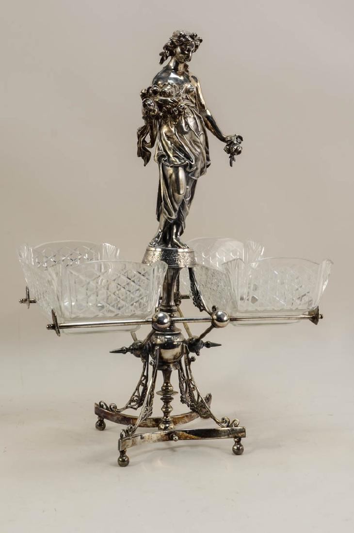 Wilcox Silverplate Figural Centerpiece