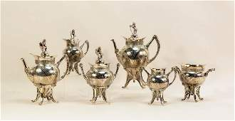 Victorian Silverplate Coffee & Tea Service