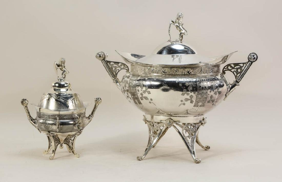 Meriden Aesthetic Silver plate Tureen and Butter