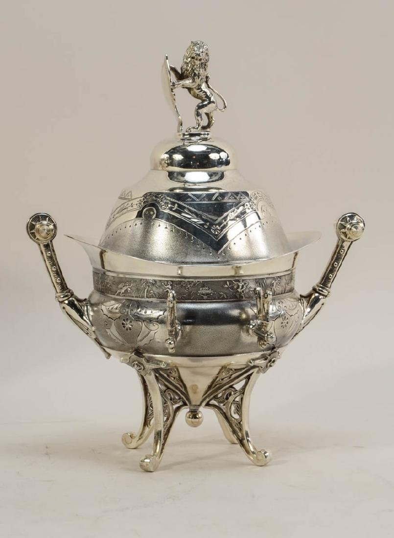 Meriden Aesthetic Silver plate Tureen and Butter - 4