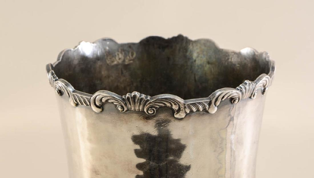 Monumental Sheffield Silver Plate Vase - 4