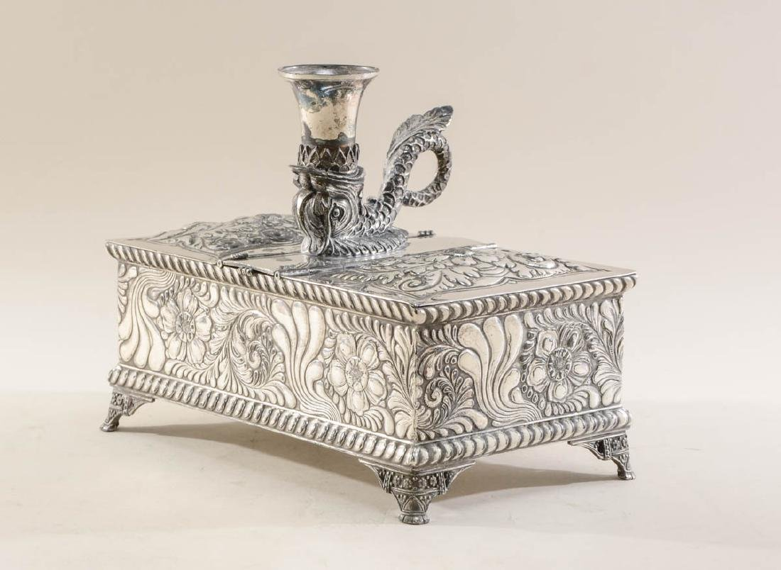 Meriden Silverplate Desk Humidor