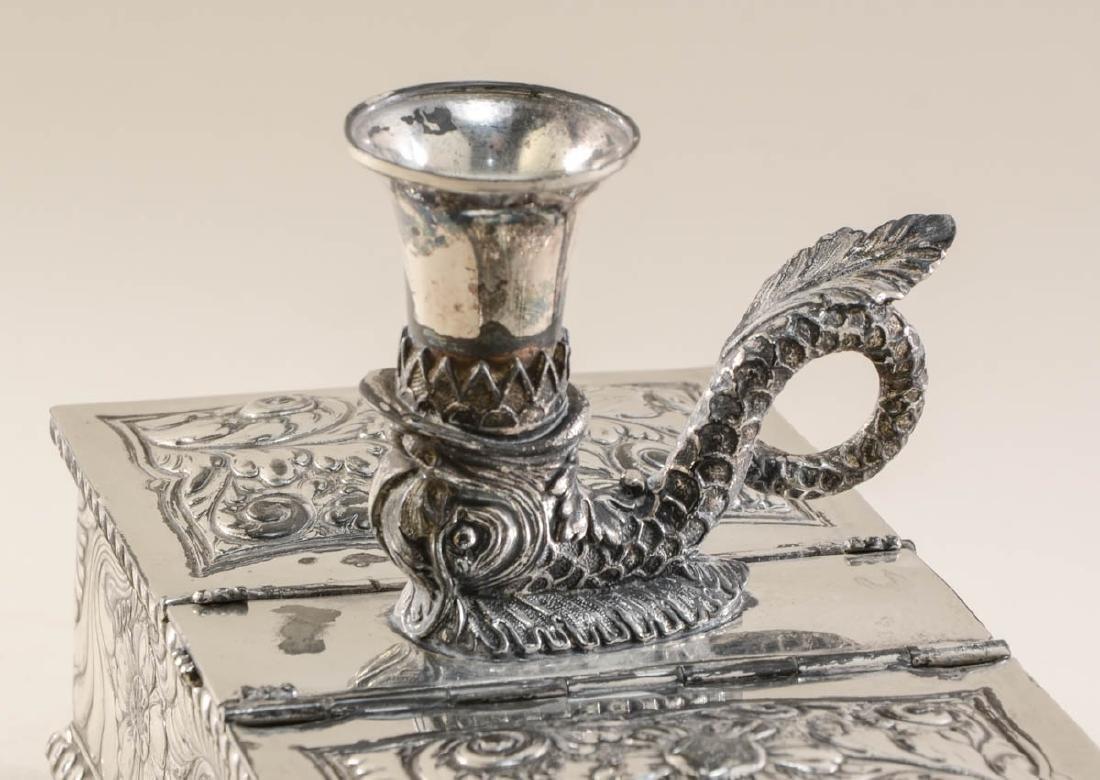 Meriden Silverplate Desk Humidor - 2