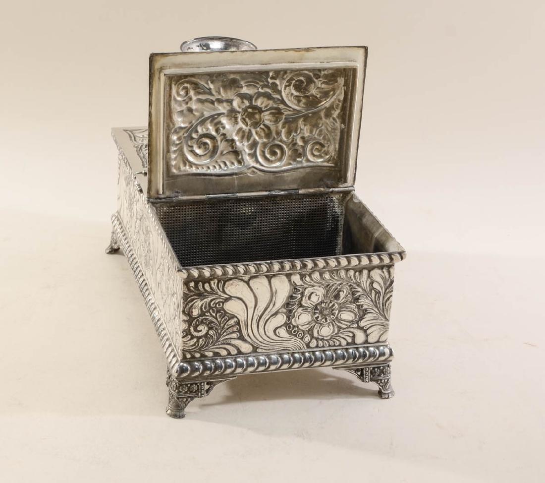 Meriden Silverplate Desk Humidor - 3