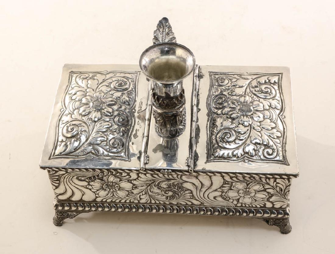 Meriden Silverplate Desk Humidor - 4