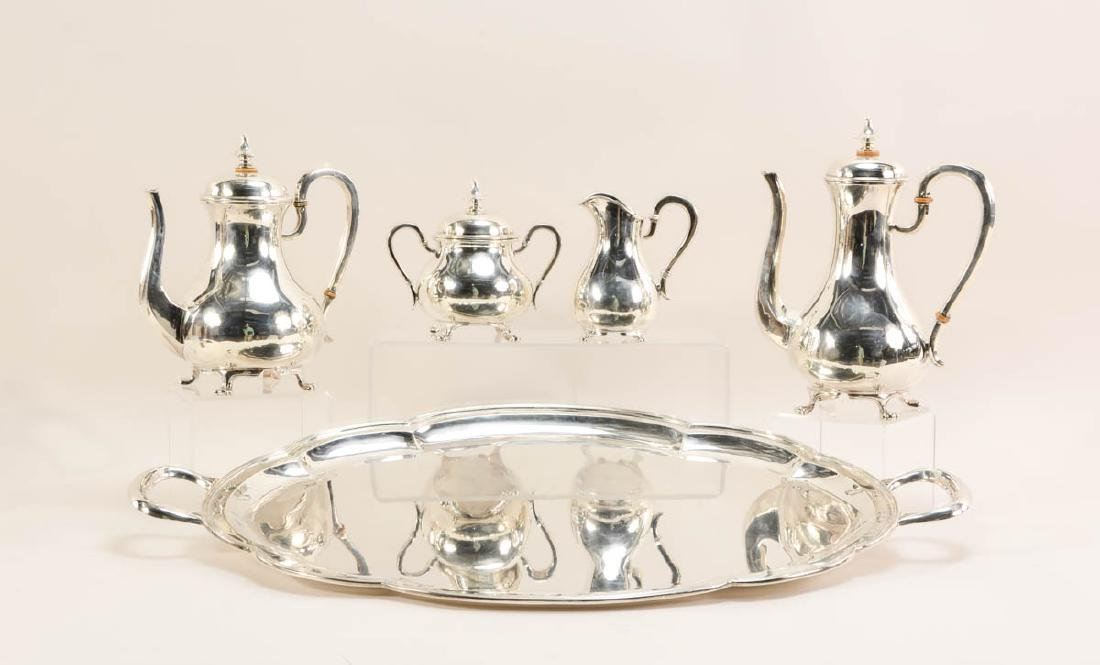 Ferner German Sterling Silver Tea Service