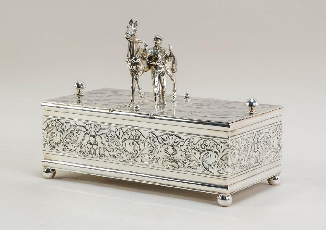Derby Horse and Jockey Silverplate Humidor