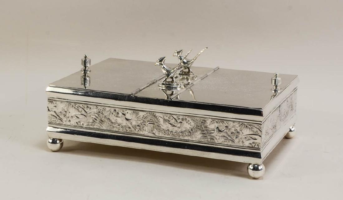 Meriden Figural Silverplate Humidor