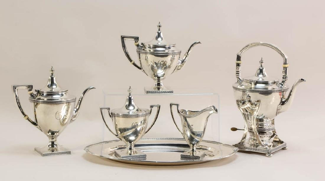 Gorham Etruscan Sterling Silver Tea Set