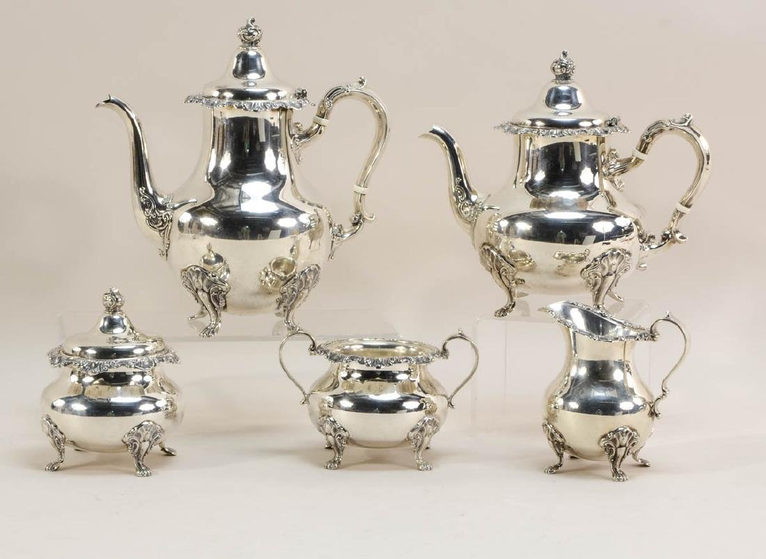 Gorham Strasbourg Sterling Tea Set