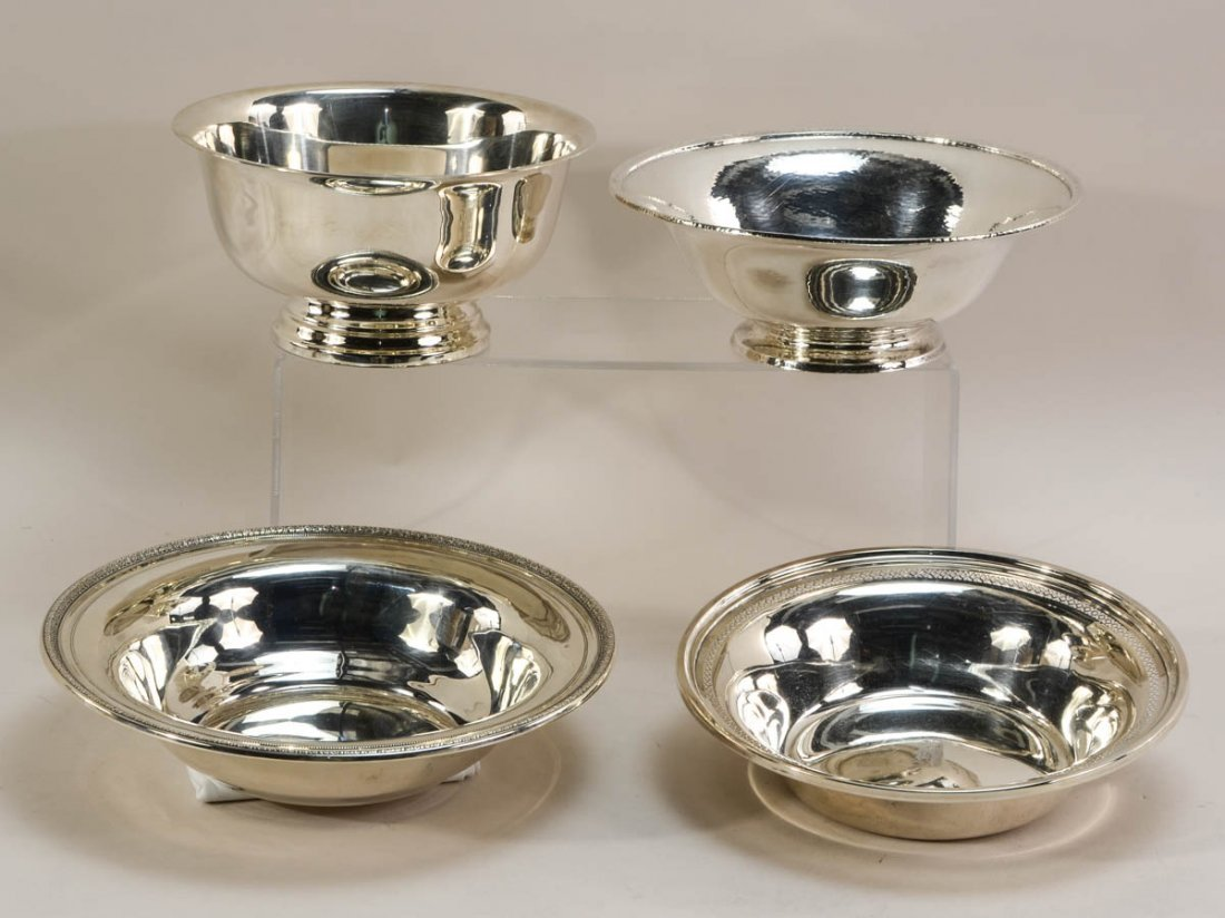 Four Sterling Silver Bowls