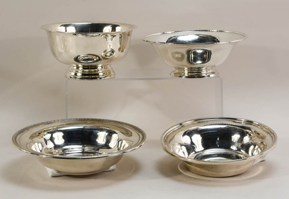 Four Sterling Silver Bowls - 2