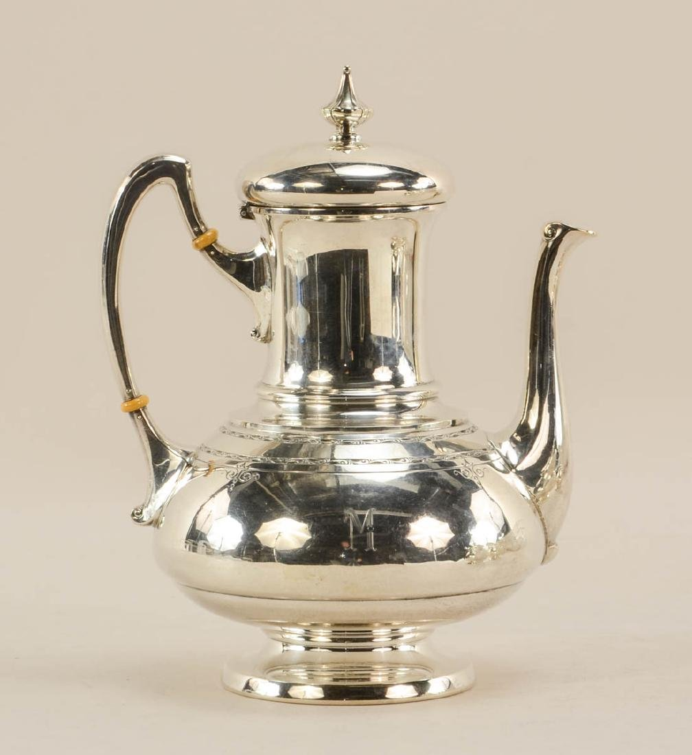 Towle Old Lace 3 pc Sterling Tea Set - 2