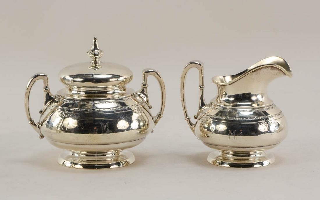 Towle Old Lace 3 pc Sterling Tea Set - 3