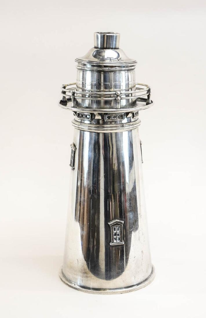 Meriden Silverplate Lighthouse Cocktail Shaker