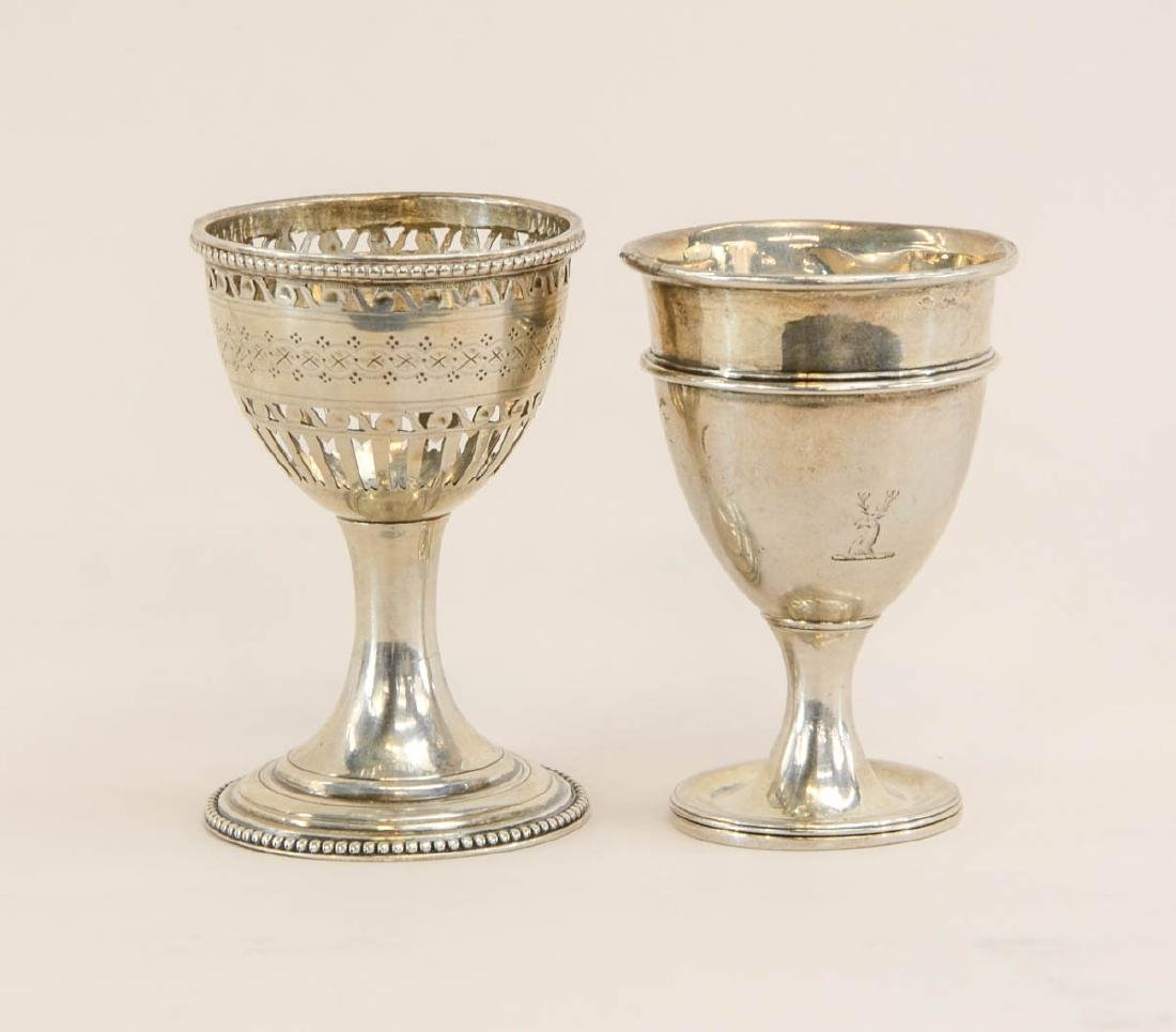 Two English Silver Egg Cups
