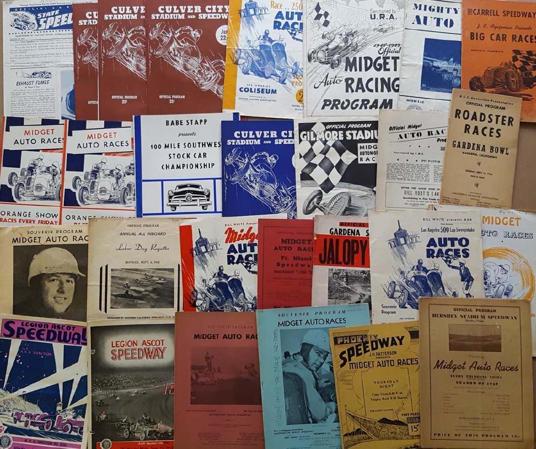 65 Race programs - 40's, a few 20's-30's