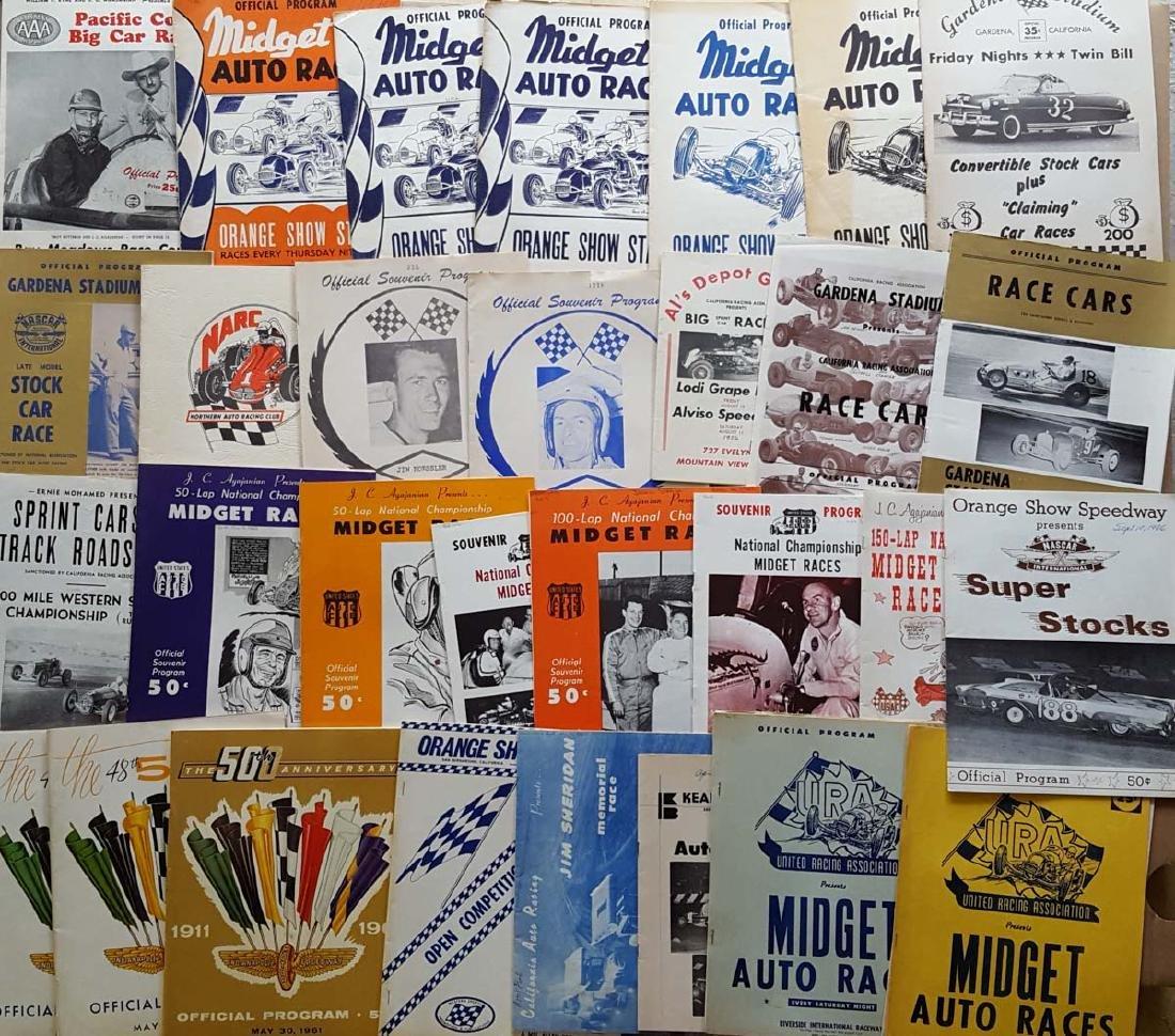 80 1950's-60's race programs