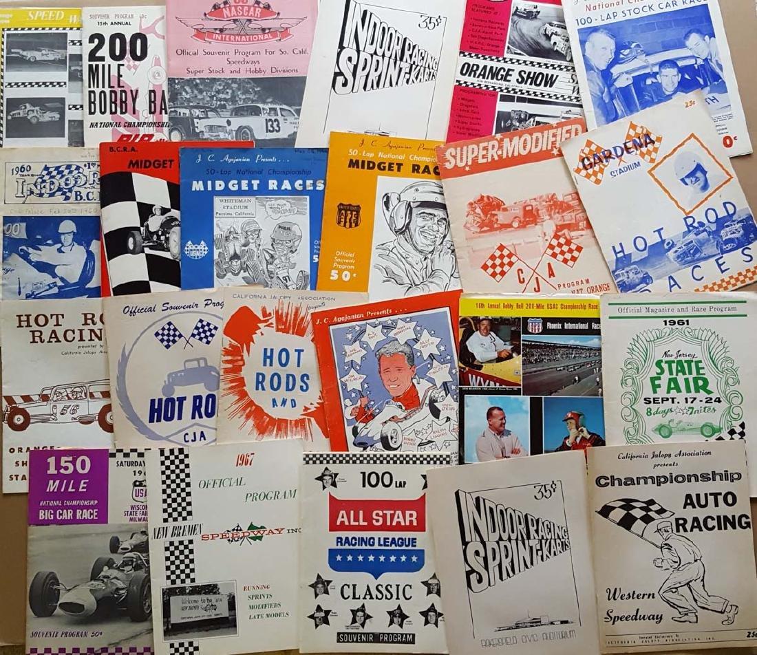 80 1950's-60's race programs - 2