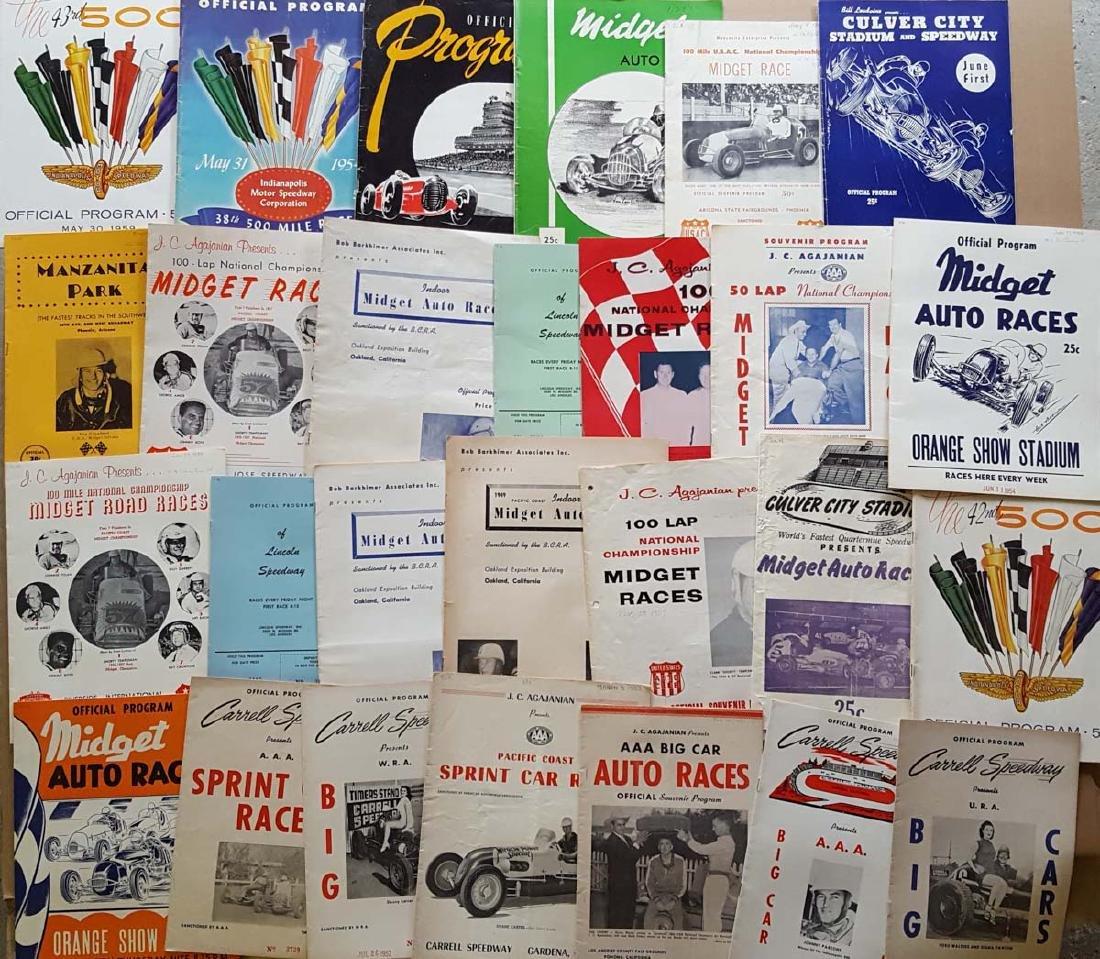 80 1950's-60's race programs - 3