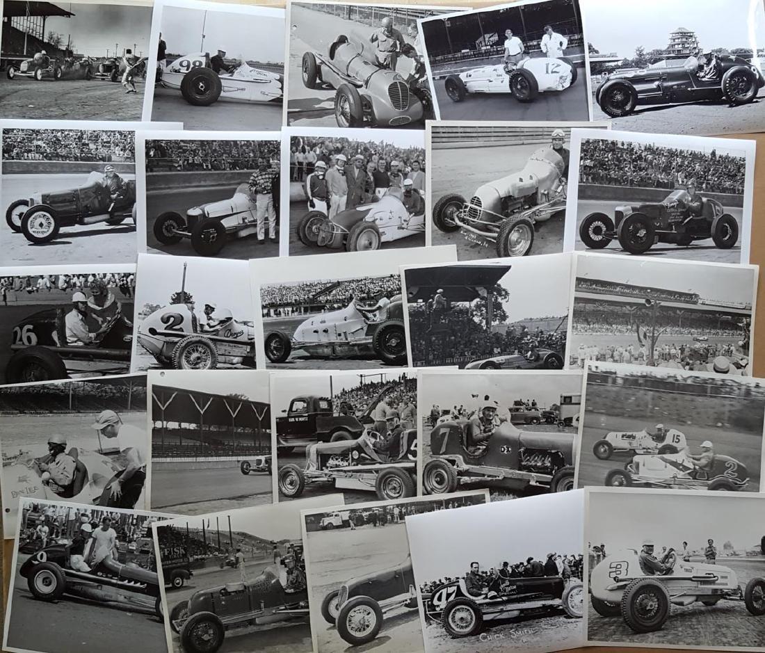 100 mid 1930's-40's race 8 x 10 photos