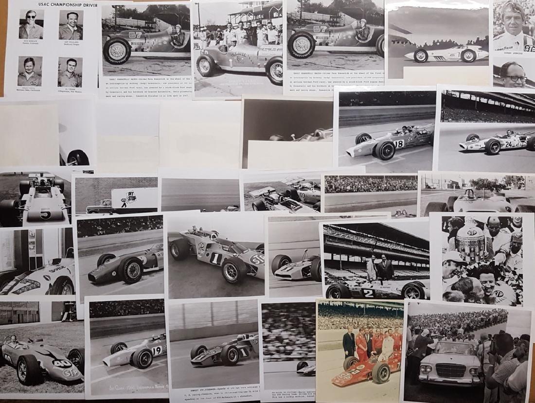 145  8 x 10 racing photos- teens -1960's