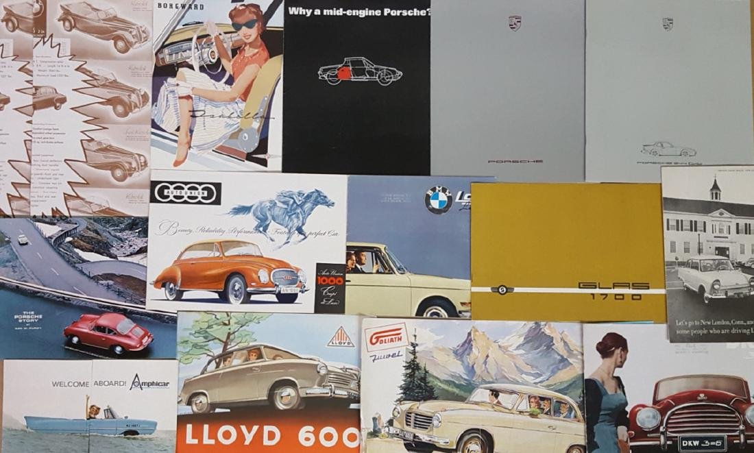 1950's-60's German car brochures