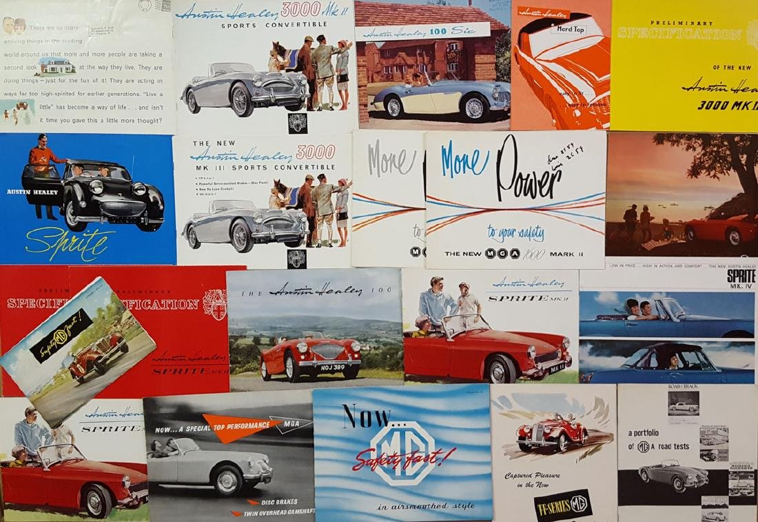 Austin Healey, MG, Morris brochures