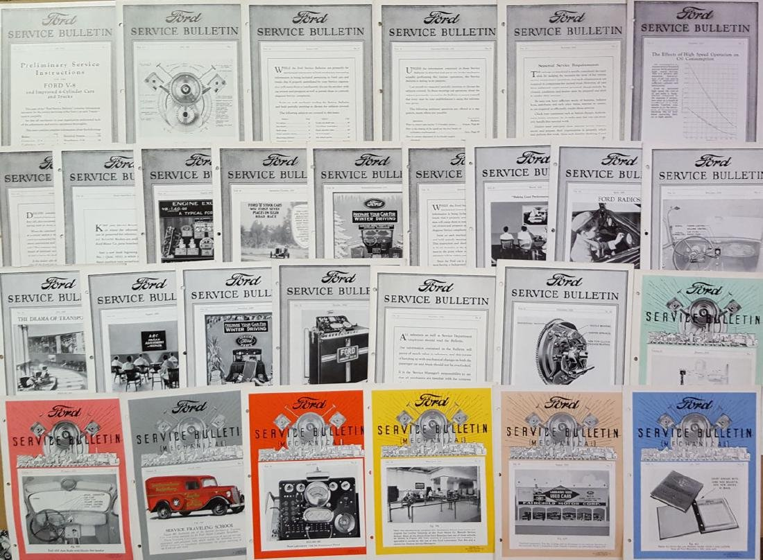 1932- 1937 Ford Service Bulletins