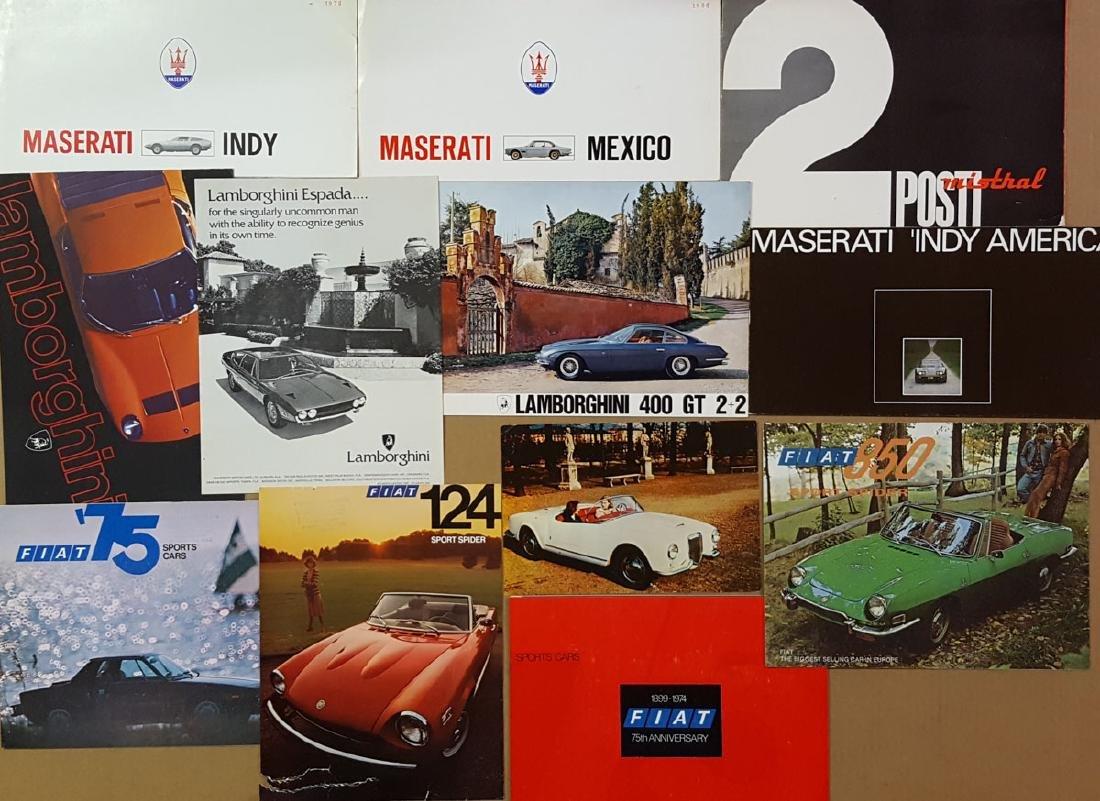 Italian car brochures
