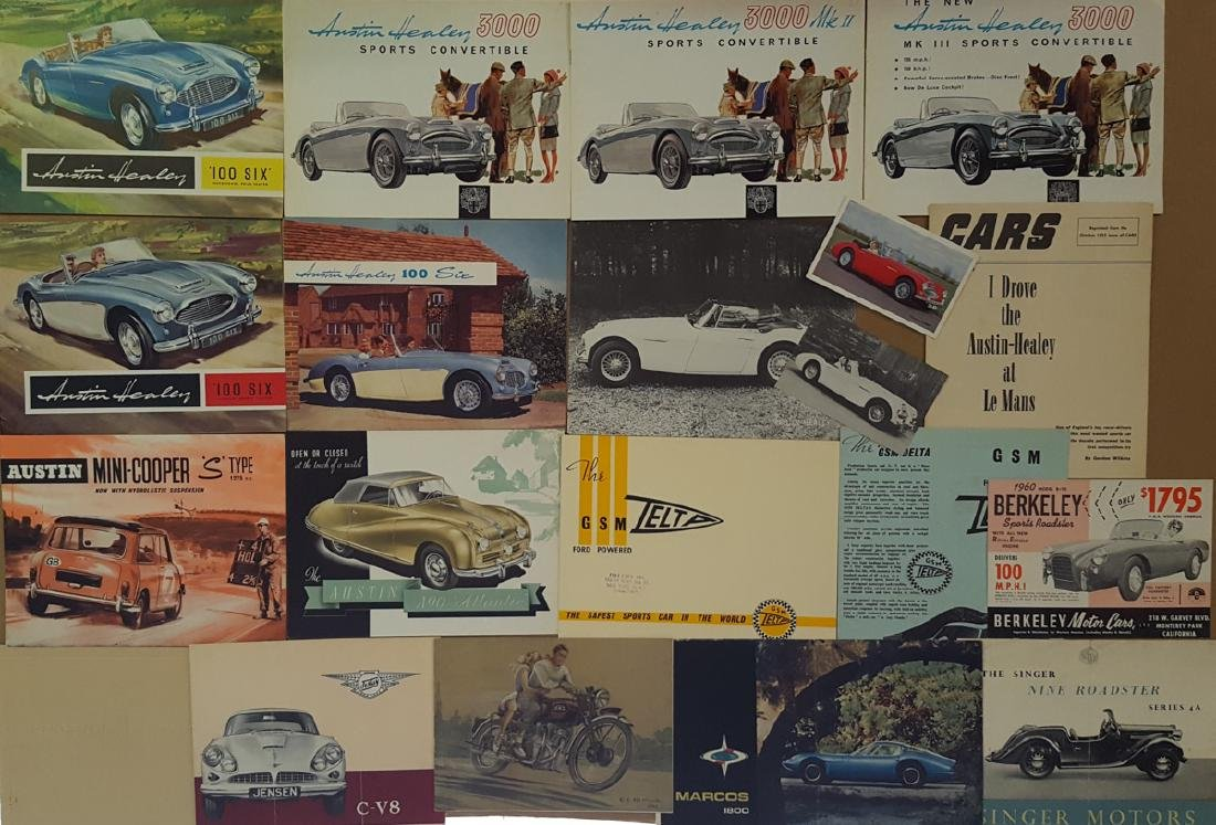 Austin Healey, other British brochures