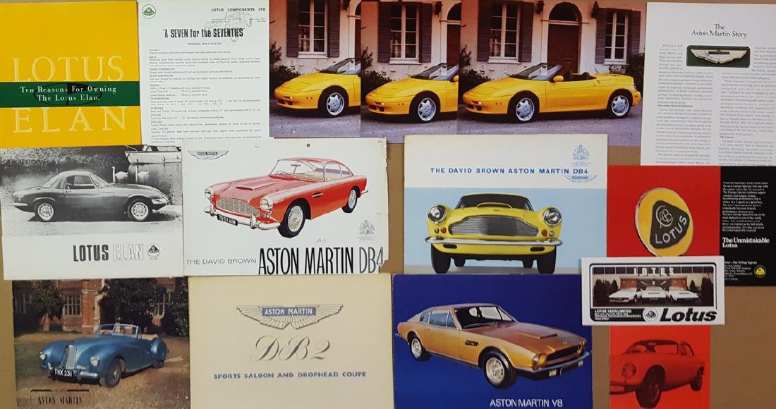 Aston Martin, Lotus items
