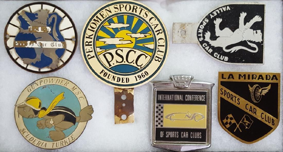 Six sports car club badge- etc