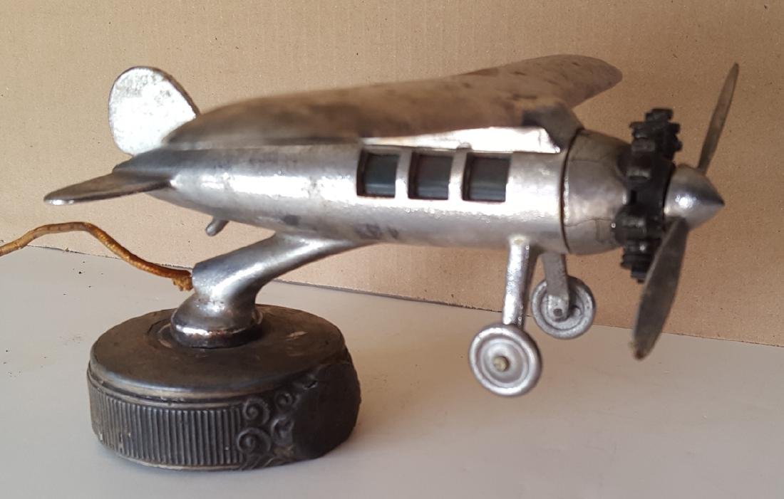 Illuminated airplane radiator mascot - 3
