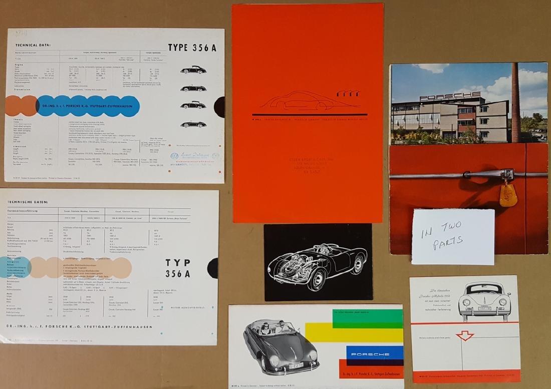 Six Porsche 356A items