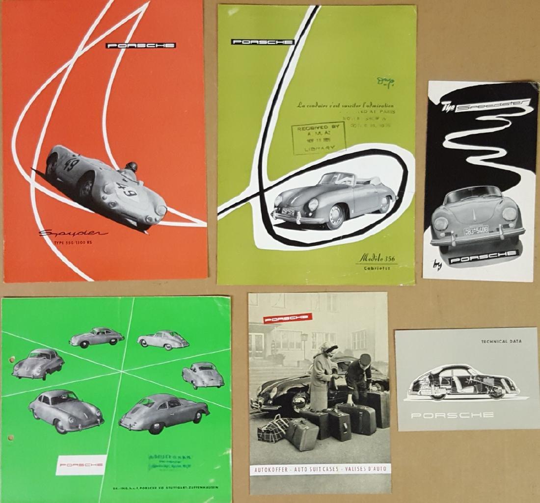 Six Porsche items - 356 and 550 Spyder
