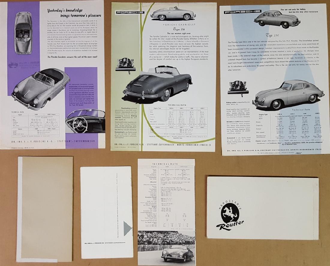 Seven Porsche items - 356 pre A and 356A