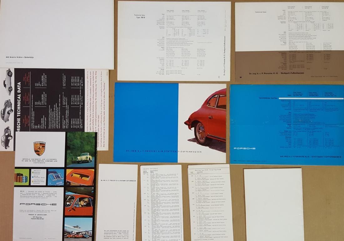 Porsche 356 B brochures, etc - 2