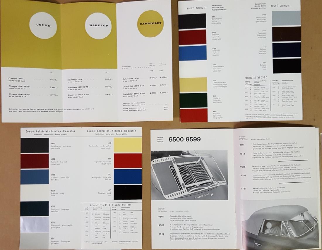 Porsche 356 B brochures, etc - 3
