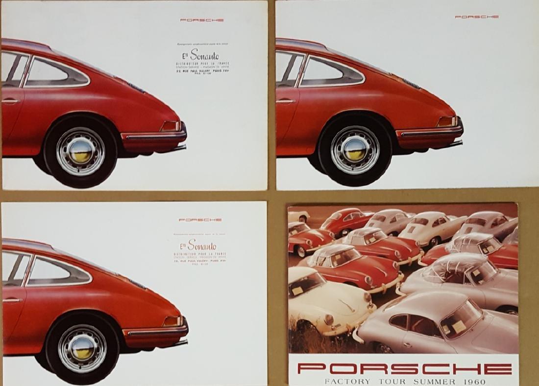 Three Porsche 901 brochures