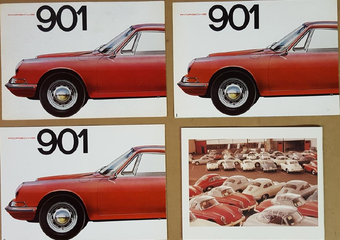 Three Porsche 901 brochures - 2