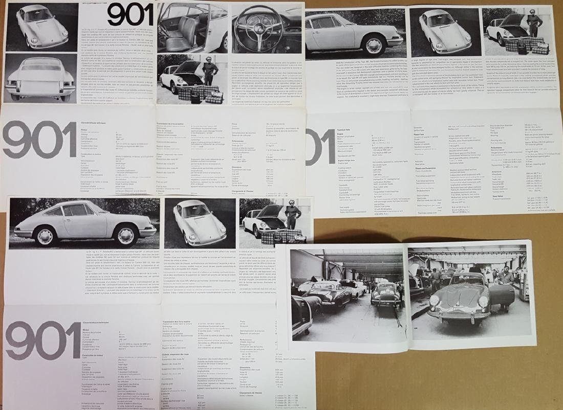 Three Porsche 901 brochures - 3