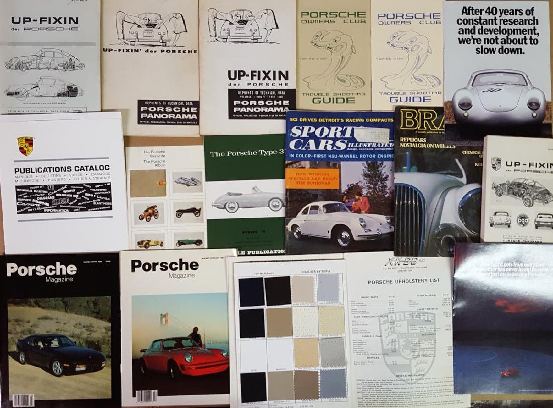 Misc lot of Porsche related paper